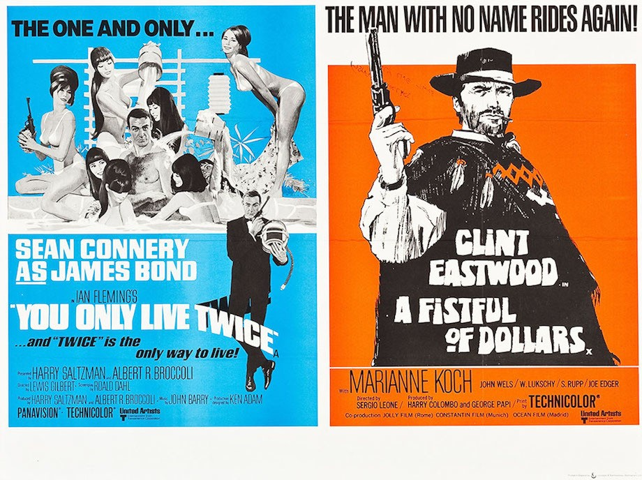 Fistful of dollars double bill poster with You Only Live Twice