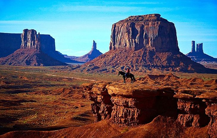 Monument Valley with lone rider