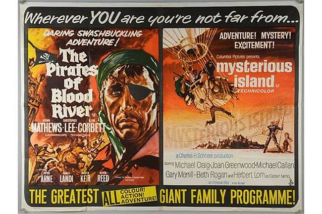 Pirates of Blood River and Mysterious Island double bill poster