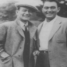 John Wayne & Andrew McLaglen on the set of The Quiet Man