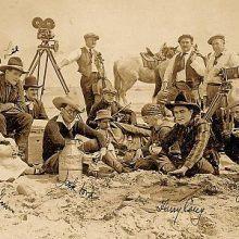 John (Jack) Ford Harry Carey etc. on set 1917