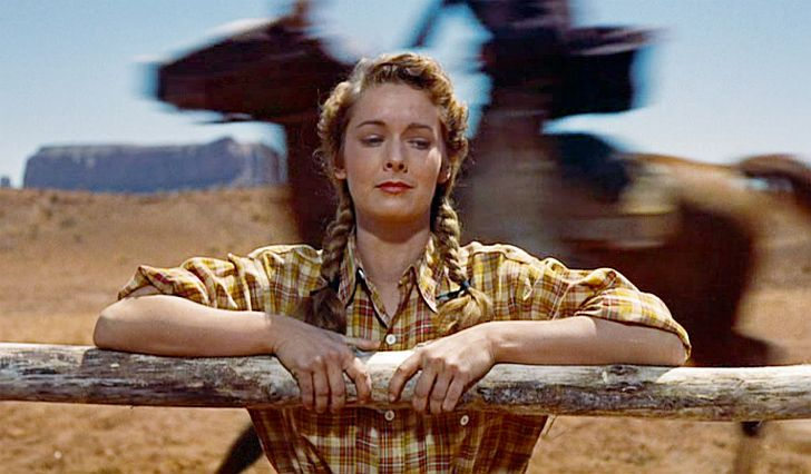 Vera Miles in The Searchers with John Wayne photo