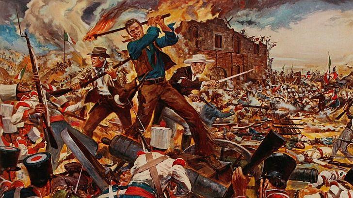 John Wayne in The Alamo poster