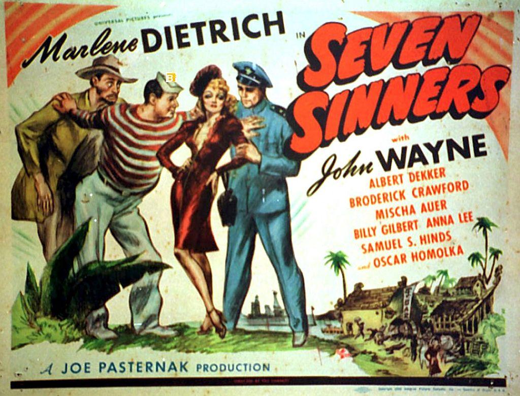 John Wayne & Marlene Dietrich in Seven Sinners