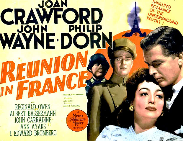 Poster of John Wayne & Joan Crawford in Reunion in France