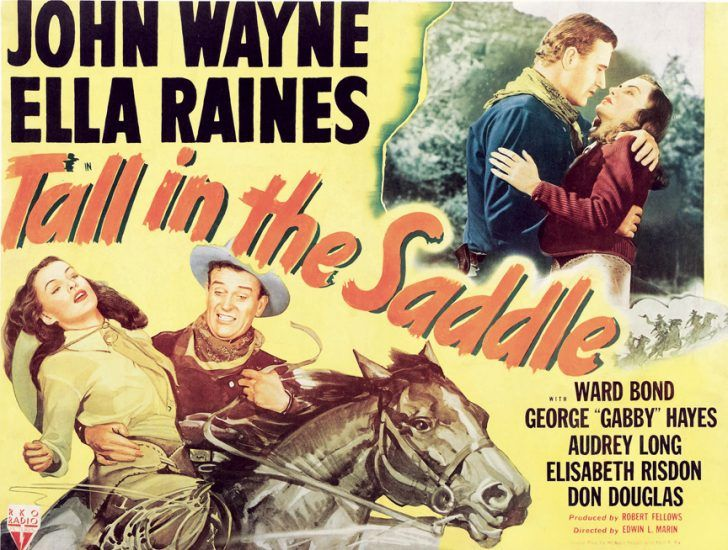 Tall In THe Saddle with John Wayne poster