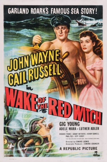 Wake of the red witch poster with John Wayne & Gail Russell