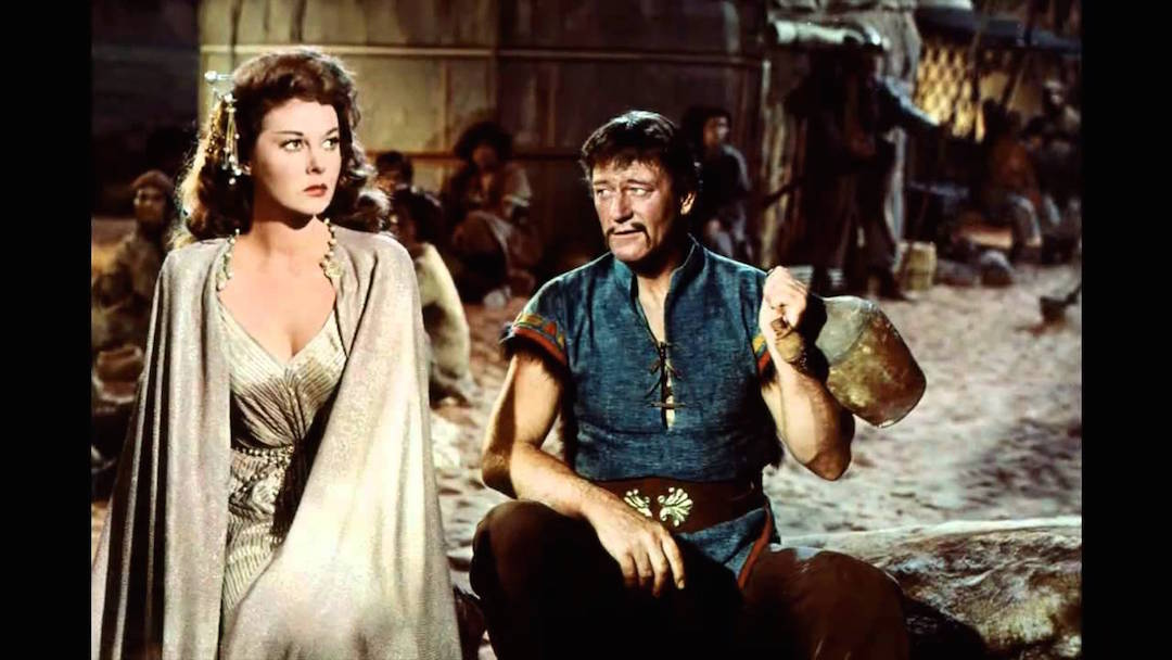 John Wayne Susan Heyward in The Conqueror