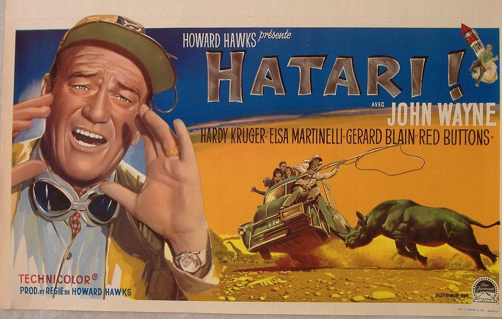 Hatari poster with John Wayne