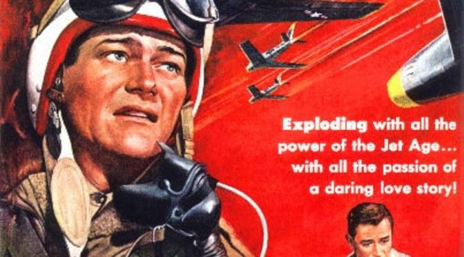 Jet Pilot movie poster with John Wayne & Janet Leigh