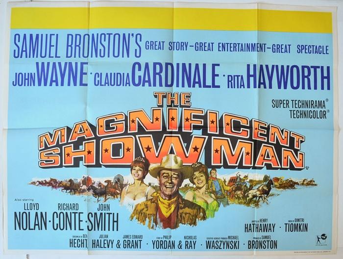 Circus World with John Wayne poster