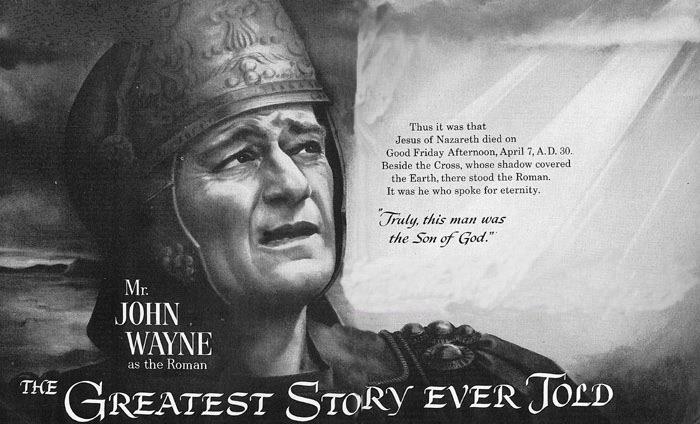Greatest Story Ever Told John Wayne Poster