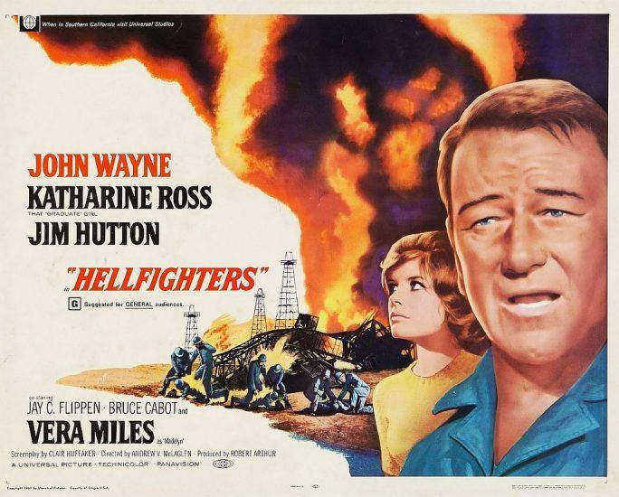 Hellfighters lobby card with John Wayne