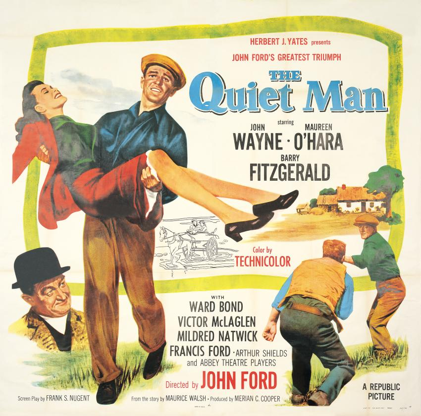 John Wayne as The Quiet Man poster