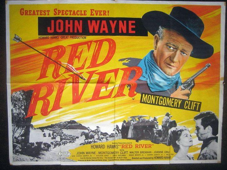 Poster of Red River starring John Wayne