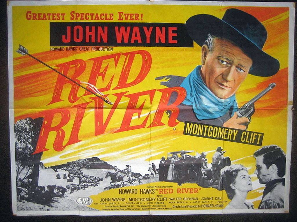 Poster of Red River starring John Wayne