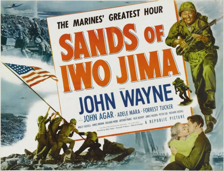 John Wayne movie poster for Sands of Iwo Jima