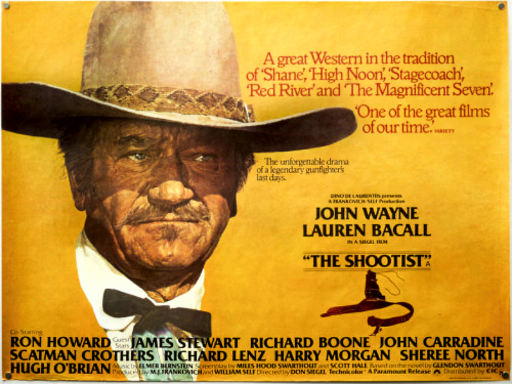 John Wayne in The Shootist poster