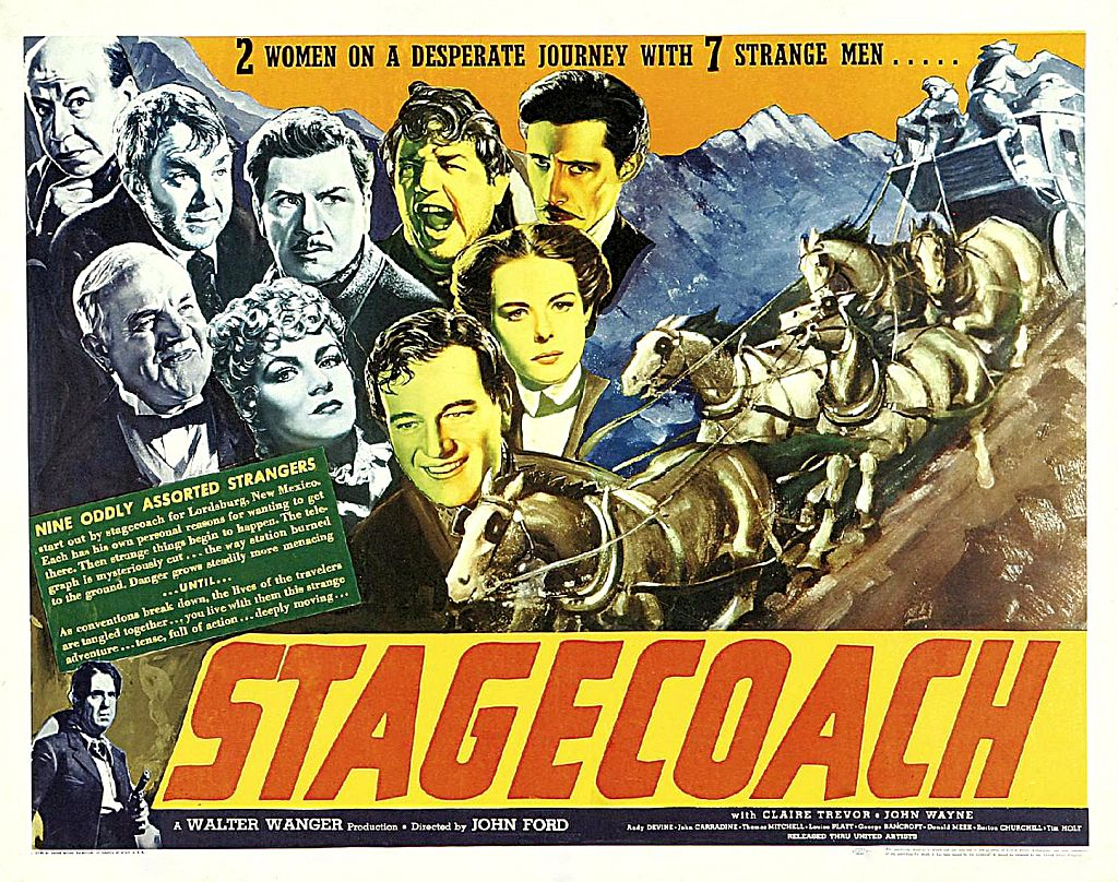 Stagecoach with John Wayne poster