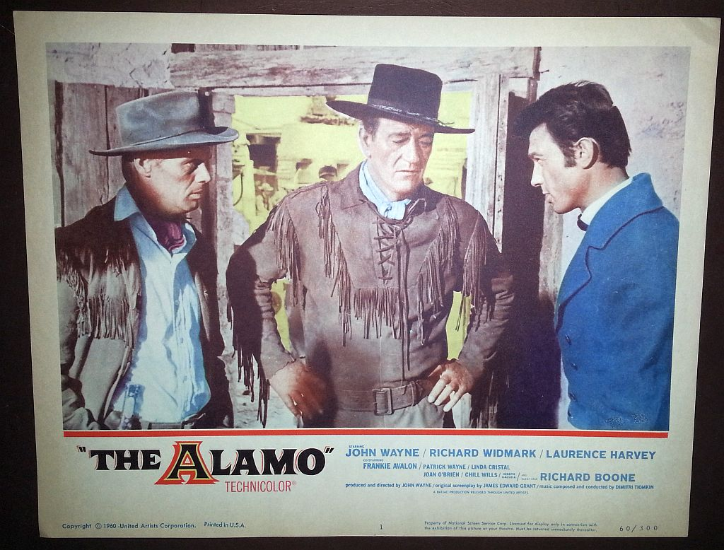 John Wayne in The Alamo lobby card