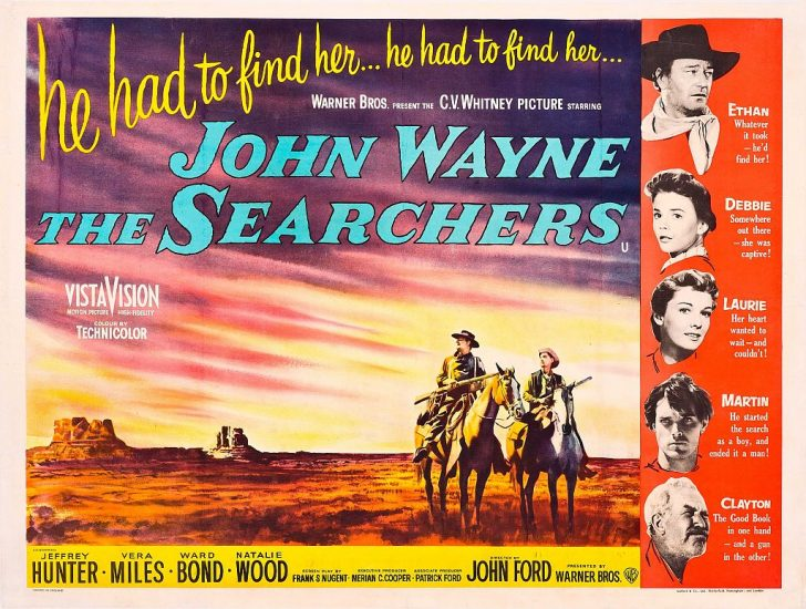 The Searchers movie with John Wayne poster