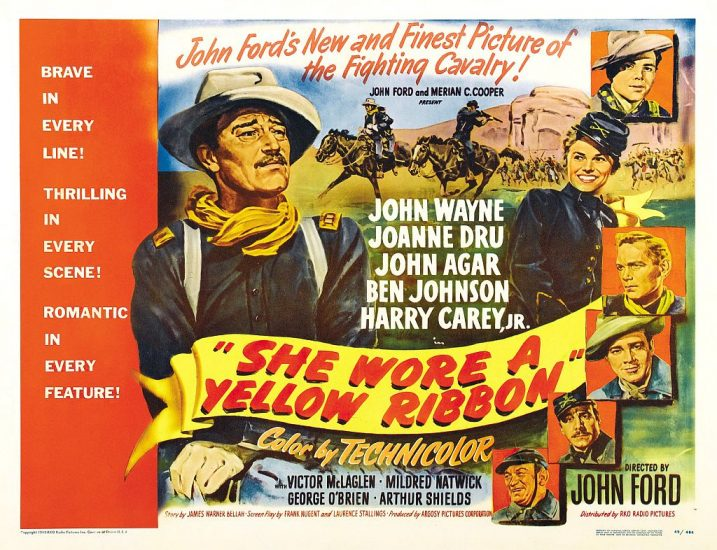 John Wayne in She Wore A Yellow Ribbon movie poster