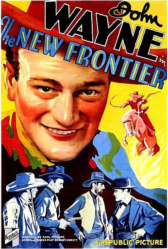 New Frontier movie with John Wayne poster