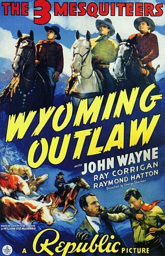 Wyoming Outlaw with John Wayne movie poster