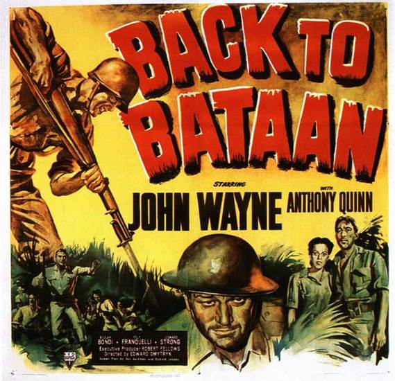 Back to Bataan film poster