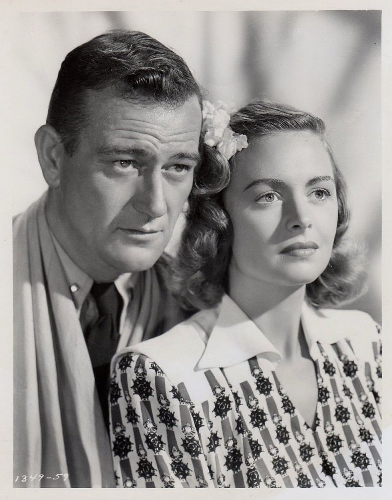 Donna Reed & John Wayne image from They Were Expendable image