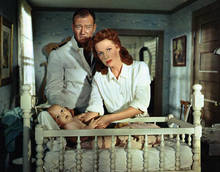 Maureen O'Hara & John Wayne image