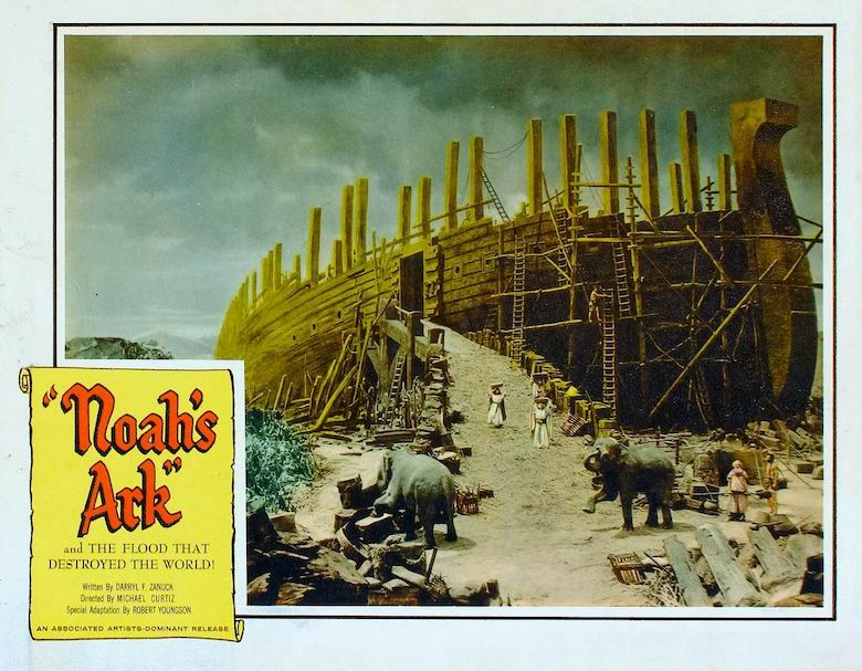 Lobby card showing the 1928 film Noah's Ark