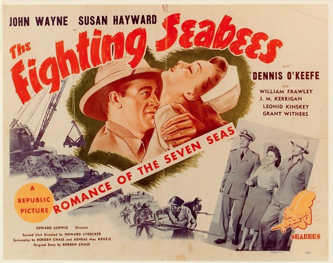 The Fighting Seabees with John Wayne poster