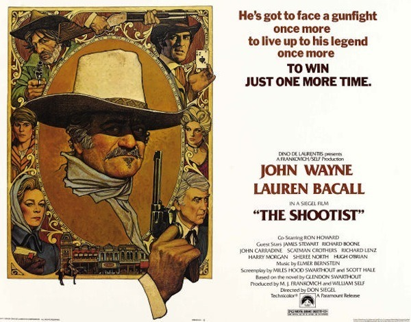 The Shootist with John Wayne poster