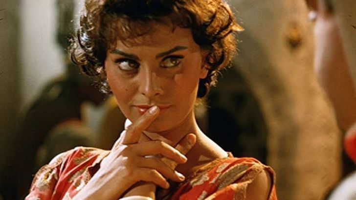 Sophia Loren in Legend of The Lost movie with John Wayne picture