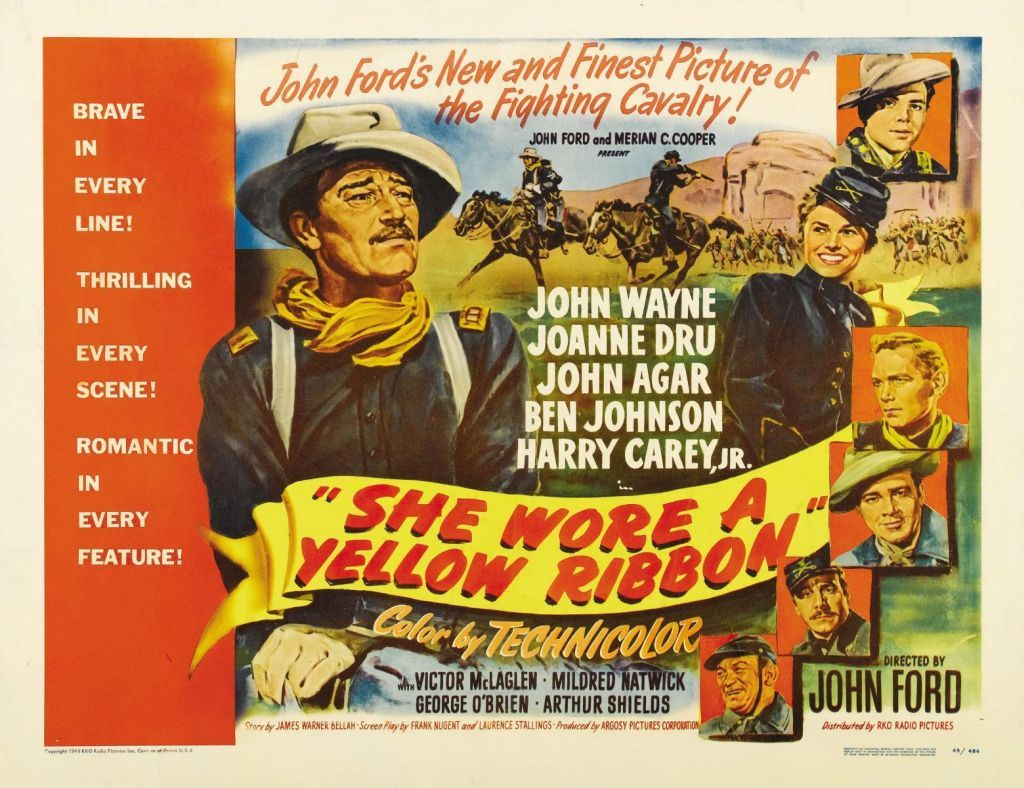 She Wore a Yellow Ribbon poster image John Wayne
