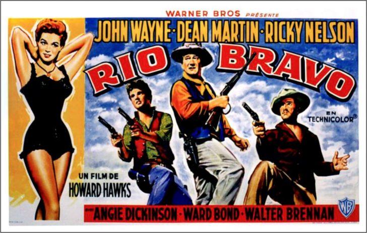 Rio Bravo movie poster with John Wayne