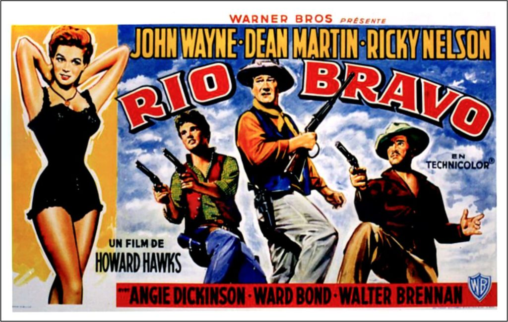 Rio Bravo movie poster with John Wayne