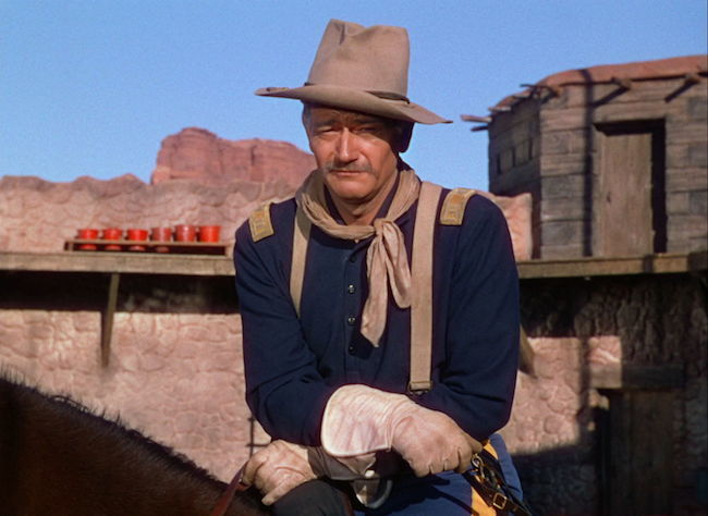 Scene from She Wore a Yellow Ribbon with John Wayne