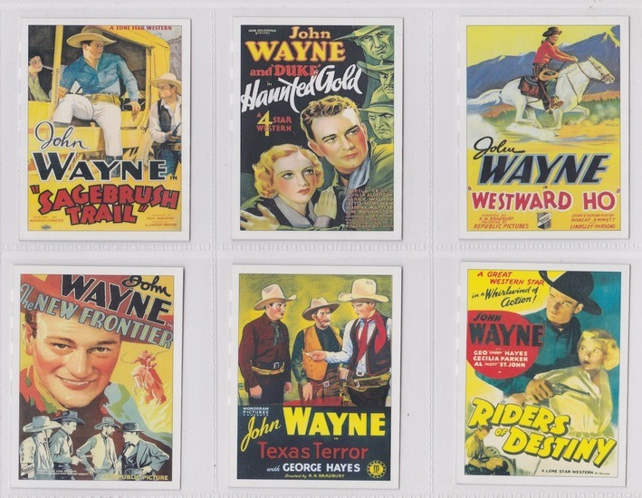 John Wayne card posters of westerns