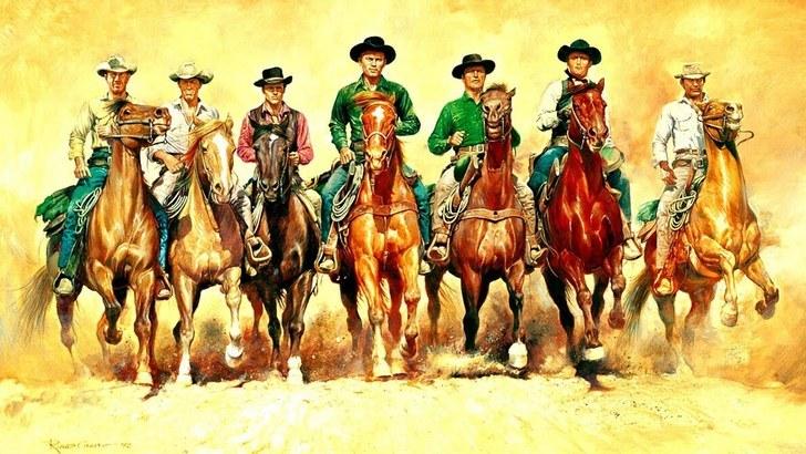 The original Magnificent Seven image
