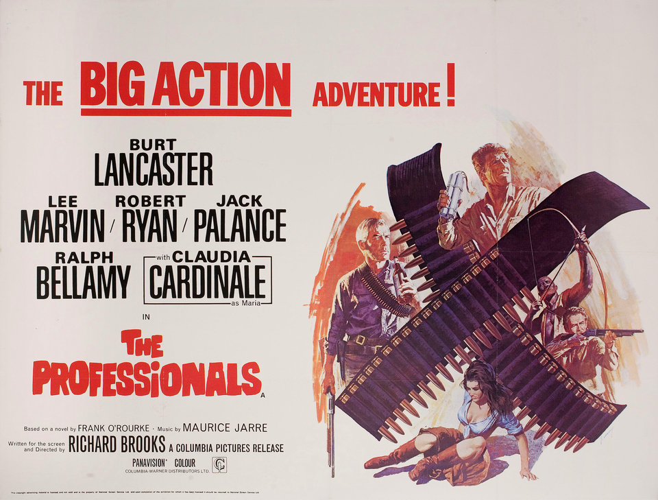 The Professionals 1966 poster