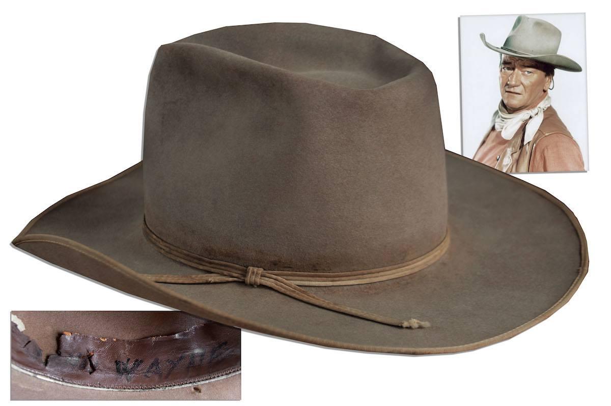 John Wayne hat at auction