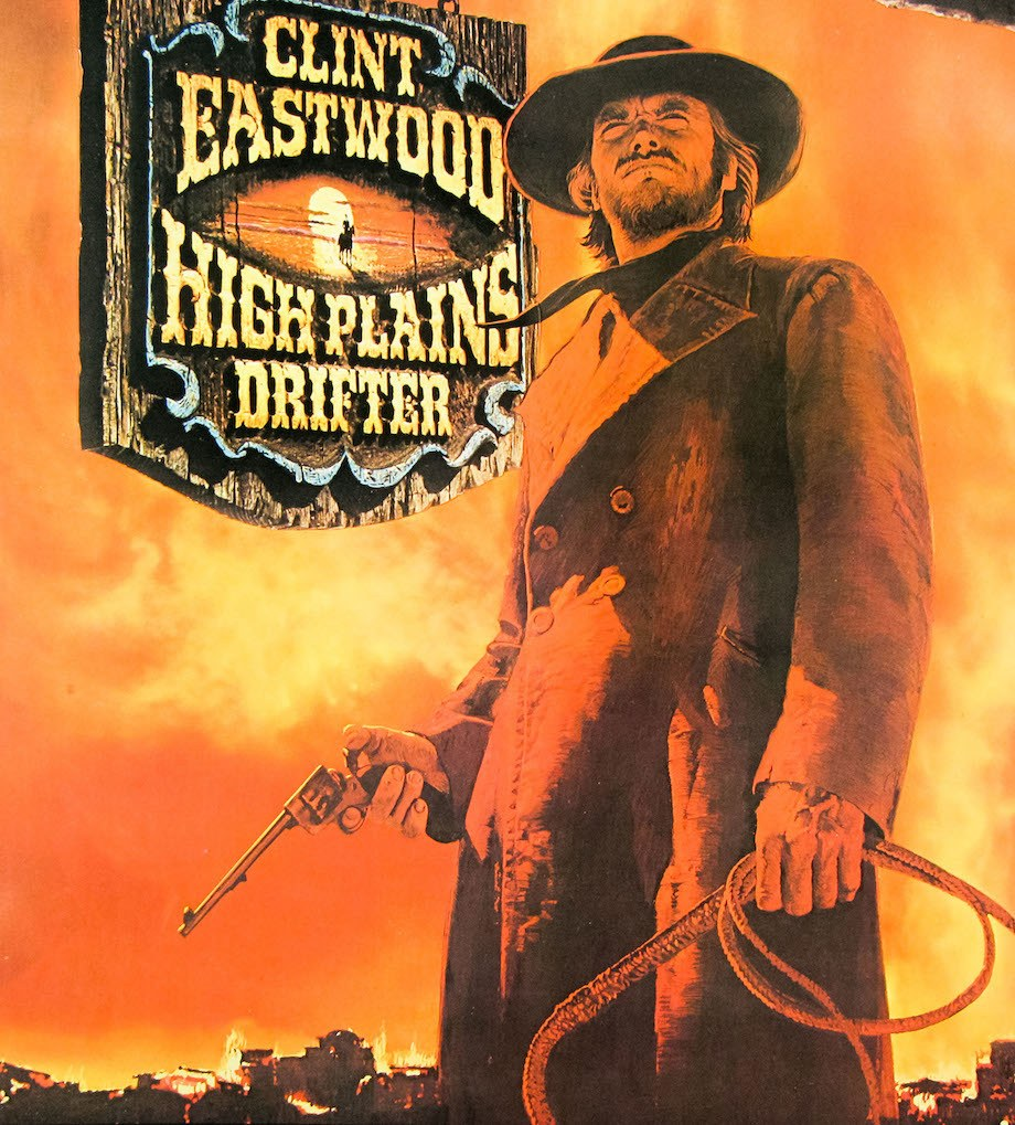 High Plains Drifter with Clint Eastwood poster