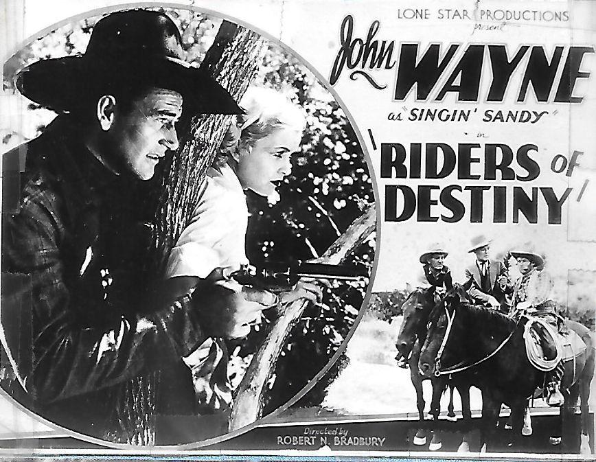 John Wayne in Riders of Destiny poster