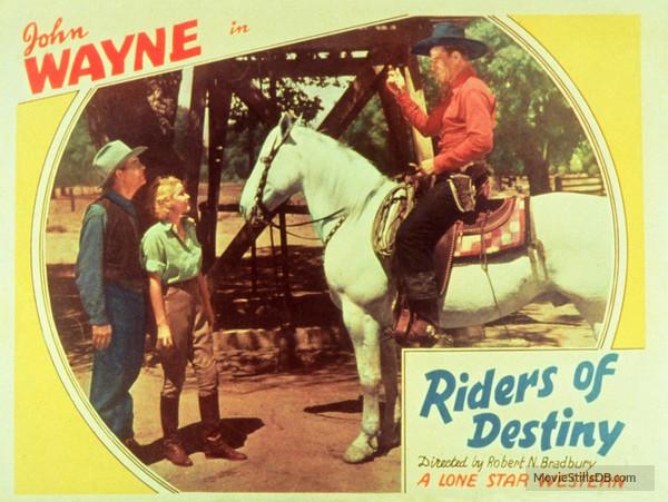 Riders of Destiny with John Wayne lobby card