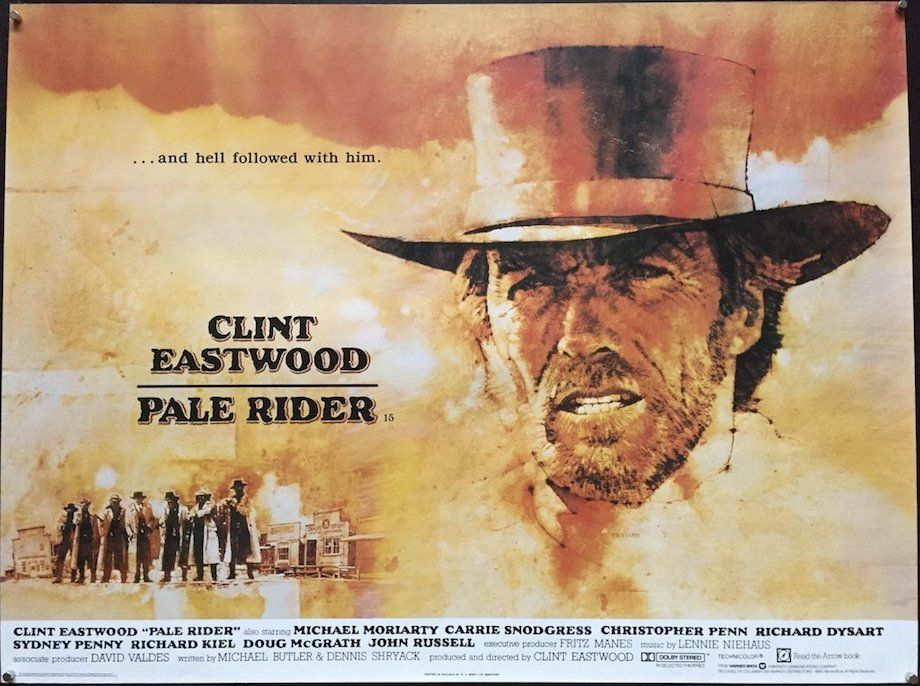 Pale Rider with Clint Eastwood poster