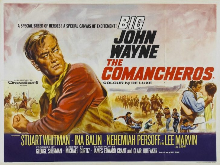 Poster of The Comancheros with John Wayne