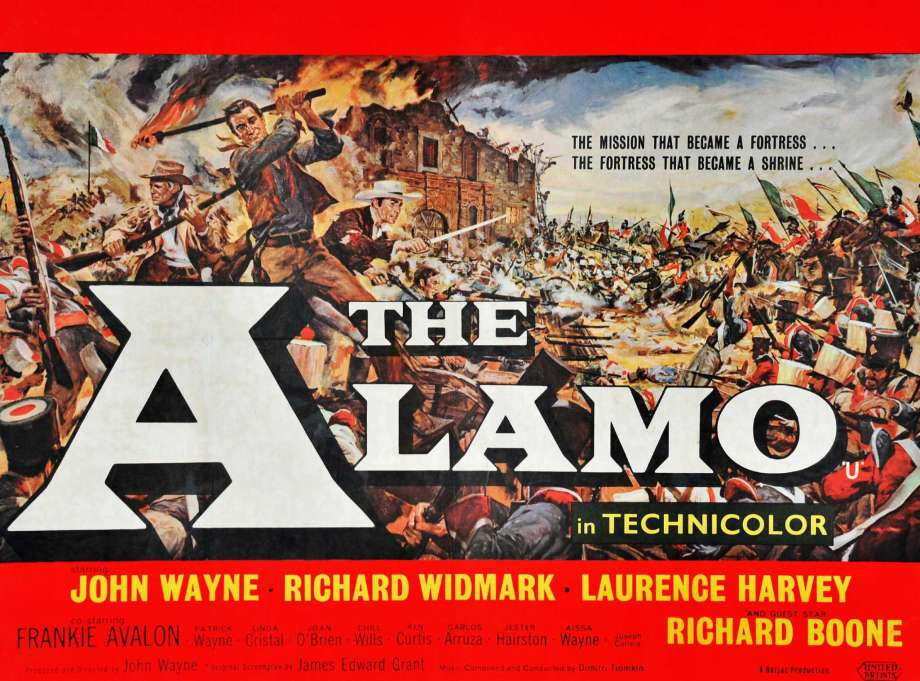 The Alamo with John Wayne poster