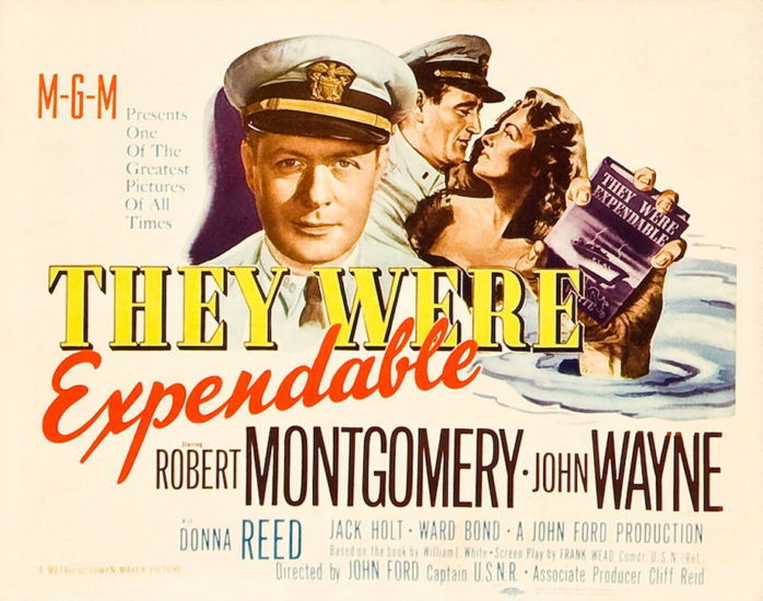 Movie poster for John Wayne in They Were Expendable